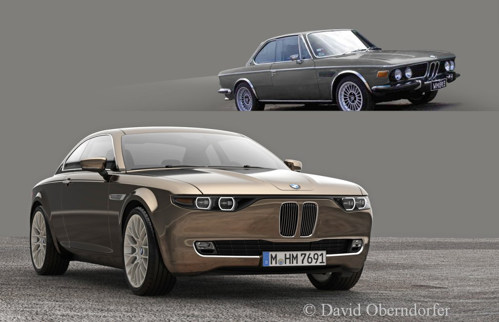 BMW, BMW E9, BMW 2000 CS, autos von morgen, BMW von morgen, Michelotti, BMW CS,  BMW E120, Retro-Style, Retro Look,
