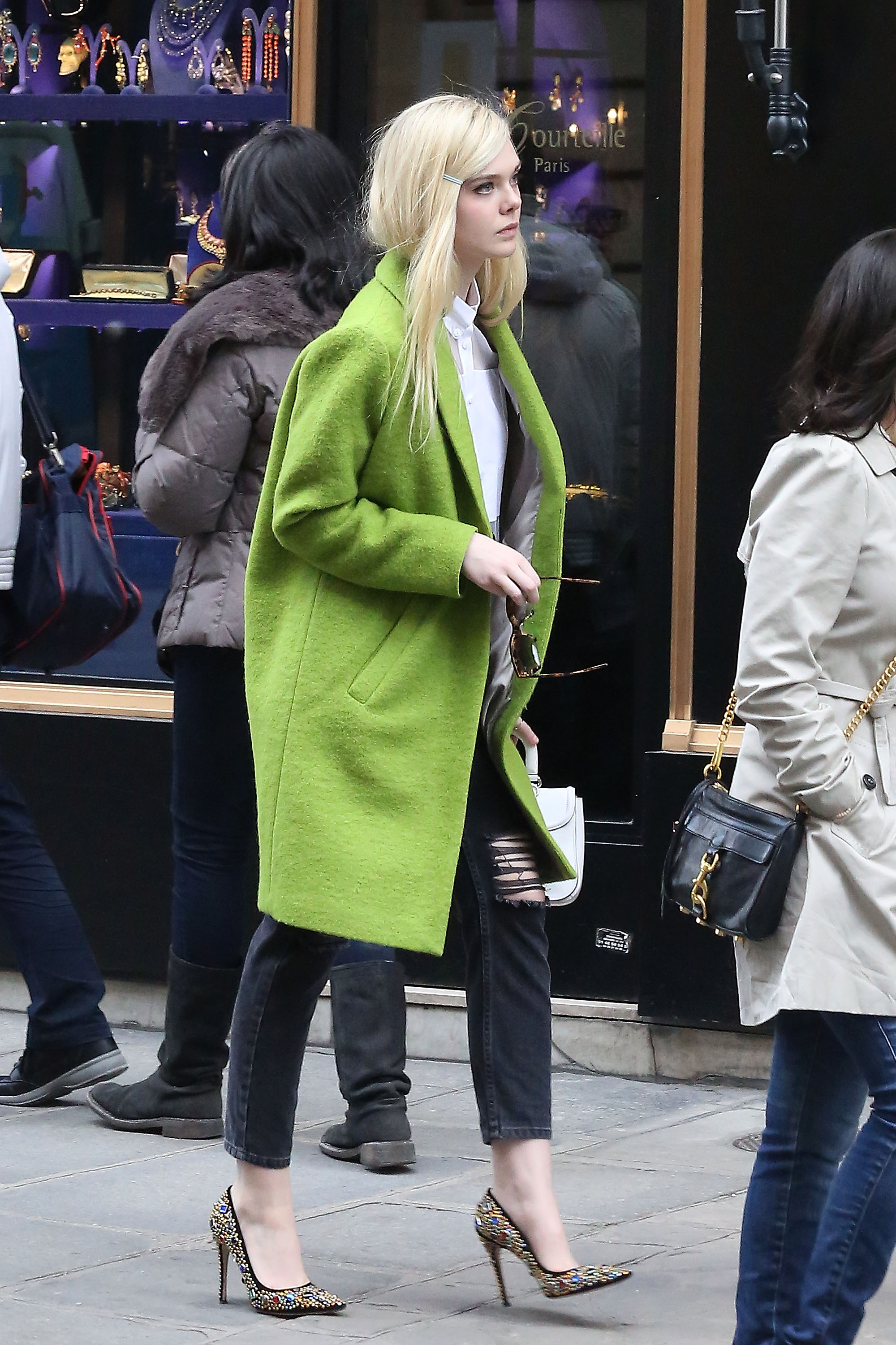 Elle Fanning Sighting In Paris
