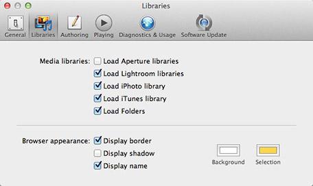 FotoMagico Preferences Screen Shot
