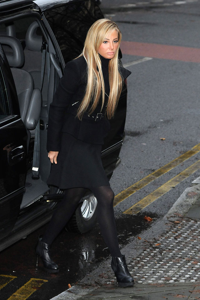 tulisa arrives in court to face drug charges