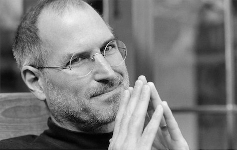steve jobs black and white stamp