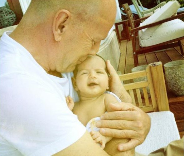 Bruce Willis with daughter Mabel