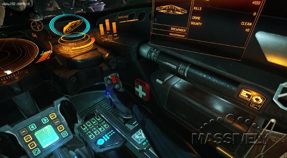Elite Dangerous virtual cockpit right