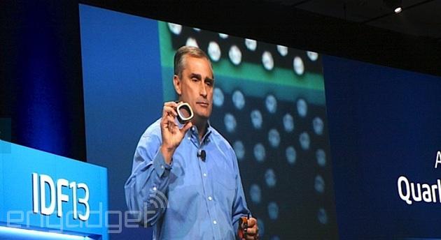 Intel CEO Brian Krzanich shows off Quark-powered wearables