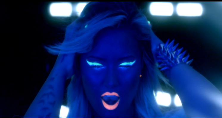 Watch Demi Lovato Neon Lights music video premiere full