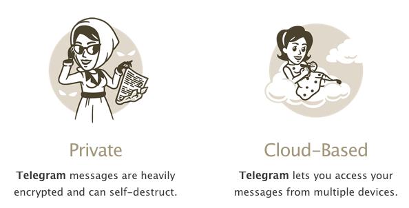 telegram seguridad nube