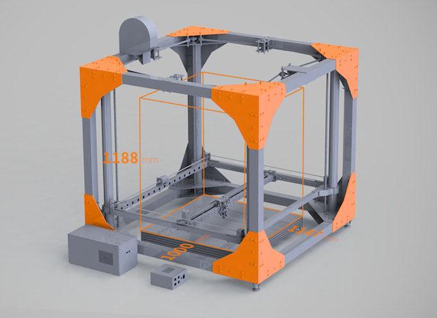 Bigrep 39 s one can 3d print full sized pieces of furniture for Furniture 3d printer