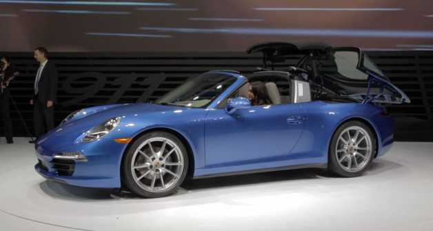 Porsche 911 Targa roof video