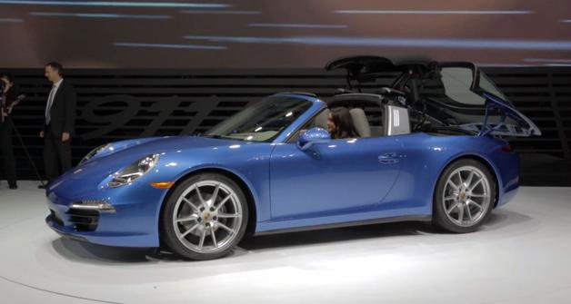 Porsche 911 Targa roof video
