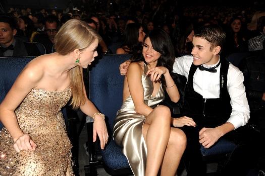 Taylor Swift Selena Gomez Justin Bieber