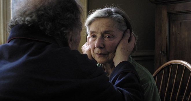 AMOUR, (aka LOVE), l-r: Jean-Louis Trintignant, Emanuelle Riva, 2012, ©Sony Pictures Classics/courtesy Everett Collection