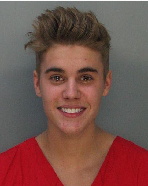Justin Bieber arrested drag racing DUI resisting arrest pot