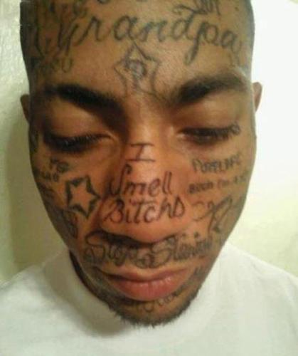 worst face tattoos