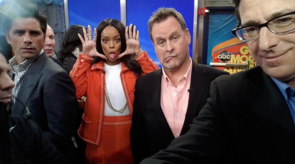 Rihanna photoboms Full House GMA
