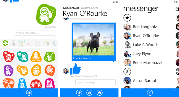 Facebook Messenger llega por fin a Windows Phone