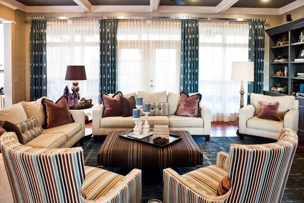 american dream builders tudor living room