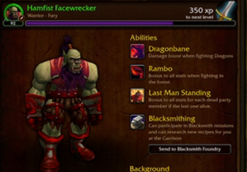 Here s an example of a mock up for the follower interface