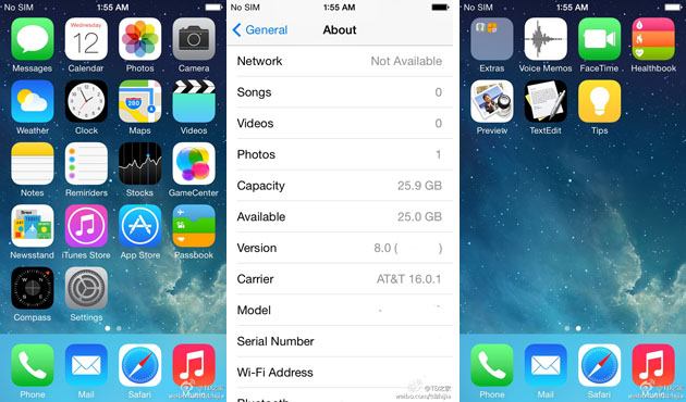 Report: This is what iOS 8 looks like, at least right now