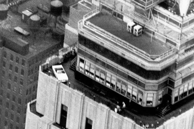 1964.5 Ford Mustang atop the Empire State Building