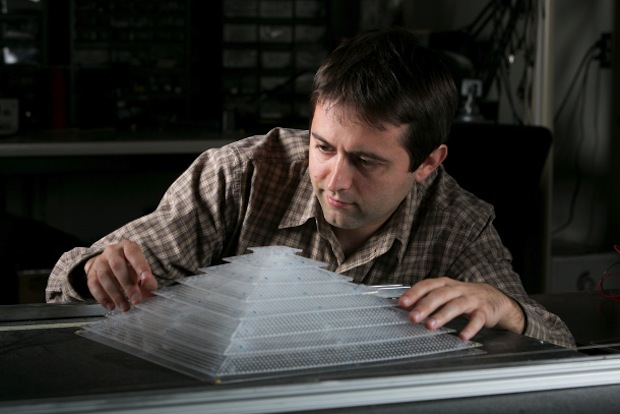 researchers in the Pratt School of Engineering use 3D printers to construct a variety of cloaking devices and other useful items  research scientist Bogdan Popa with a 3D acoustic cloaking device constructed with components created in a 3D printer