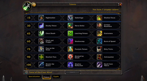 rogue level 100 talents (unveiled at BlizzCon 2013)