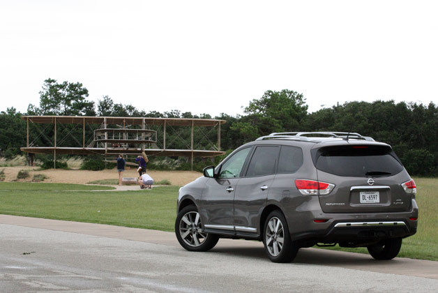 Long-term 2013 Nissan Pathfinder with Wright Bros. plane replica