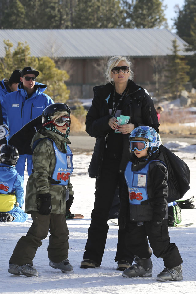 Gwen Stefani and Gavin Rossdale take their kids to Mammoth Lakes, CA. <P> Pictured: Gwen Stefani, Kingston Rossdale and Zuma Rossdale <P> <B>Ref: SPL674316  301213  </B><BR/> Picture by: Ako/Splash News<BR/> </P><P> <B>Splash News and Pictures</B><BR/> Los Angeles: 310-821-2666<BR/> New York: 212-619-2666<BR/> London: 870-934-2666<BR/> photodesk@splashnews.com<BR/> </P>