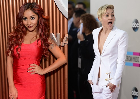 Snooki and Miley