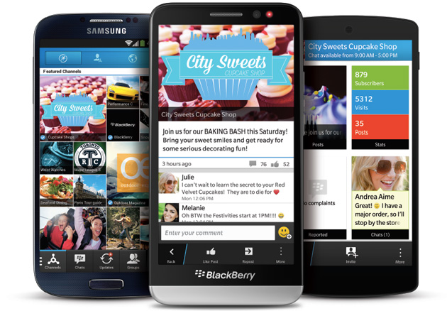 BBM Channels on BlackBerry 10 and Android