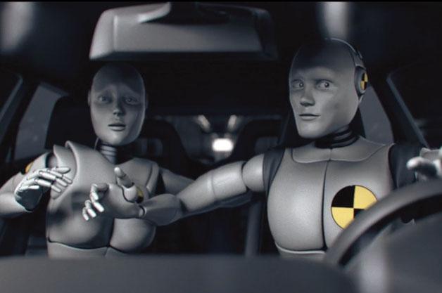 【ビデオ】衝突実験用のダミー人形が感情を持っていたら?