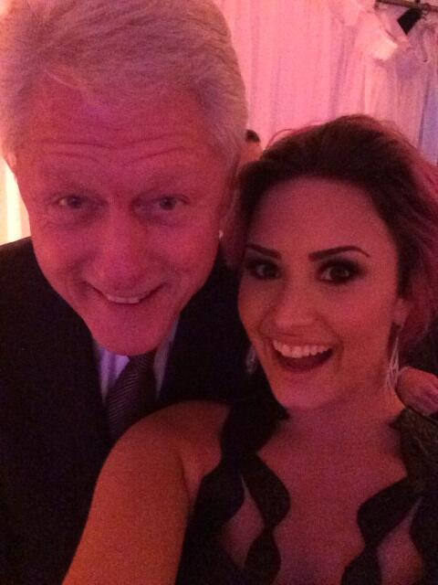 Demi Lovato and Bill Clinton