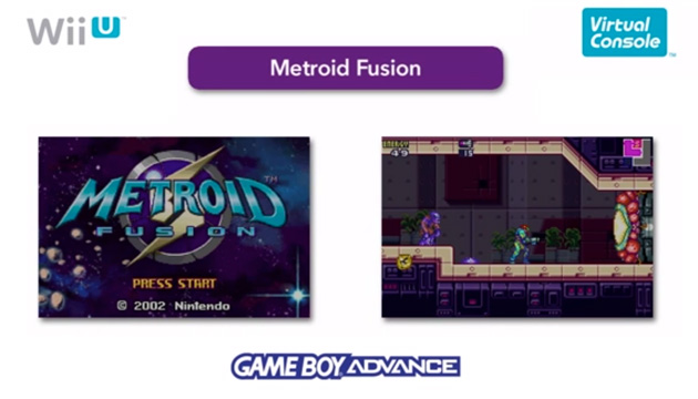 Metroid Fusion on the Game Boy Advance virtual console for Wii U