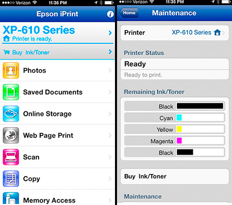 Epson iPrint Screen Shot