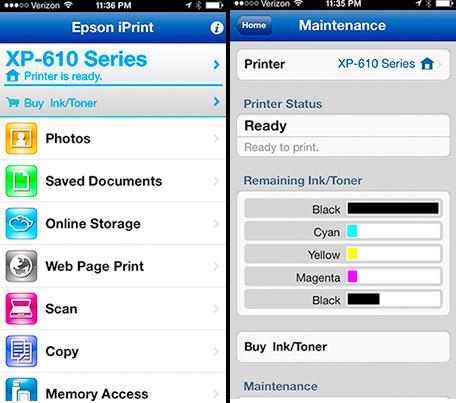 Epson iPrint Screen Shot