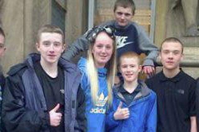 Teen gang pose with ASBOs