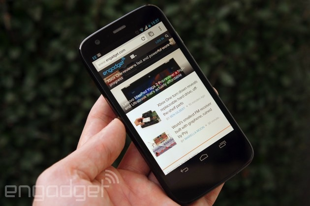 Web browsing on the Motorola Moto G