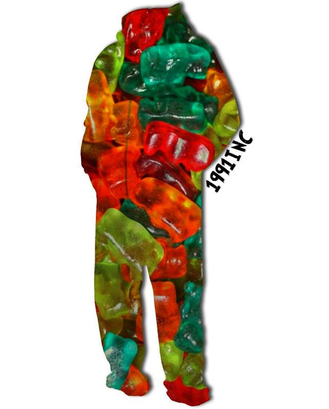 gummy bear onesie