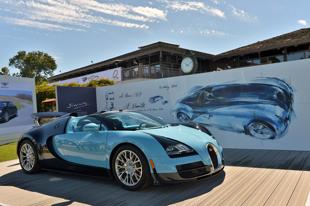 bugatti debuts first veyron legends model in pebble beach. Black Bedroom Furniture Sets. Home Design Ideas