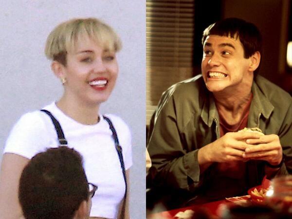 Miley Cyrus' bowl haircut