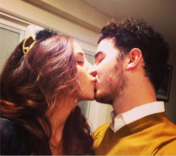 Kevin and Danielle Jonas New Years Eve kiss