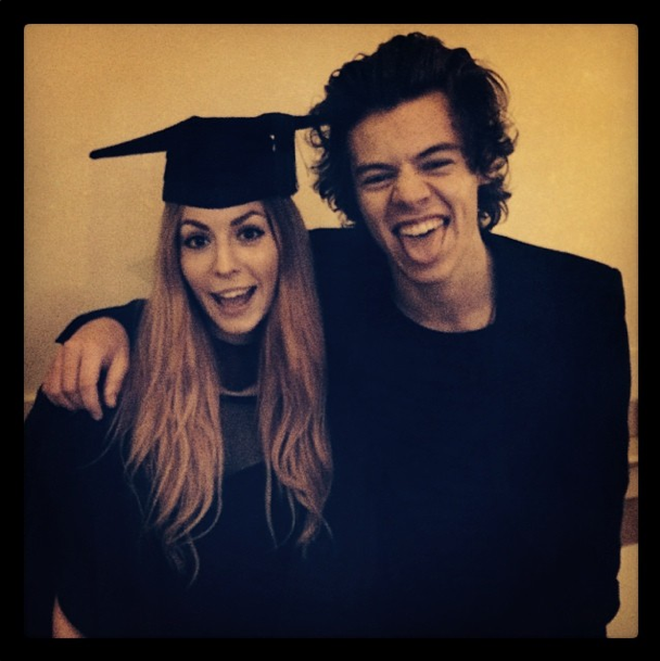 Harry Styles at Gemma Styles graduation Instagram pic