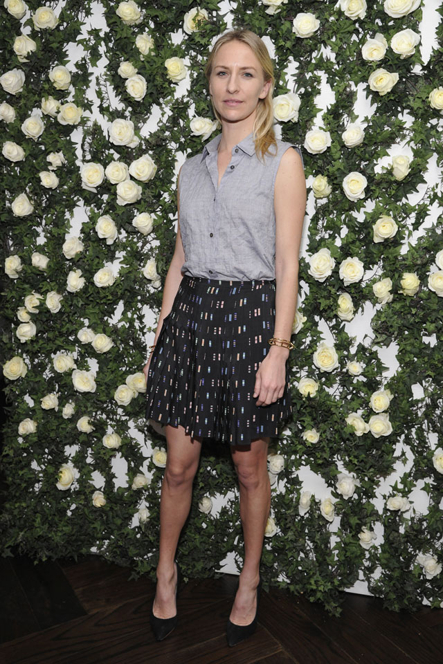 LOS ANGELES, CA - JANUARY 11:  Actress Mickey Sumner arrives at Lynn Hirschberg celebrates W's It Girls with Lancome and Dom Perignon at  A.O.C. on January 11, 2014 in Los Angeles, California.  (Photo by John Sciulli/Getty Images for W Magazine)