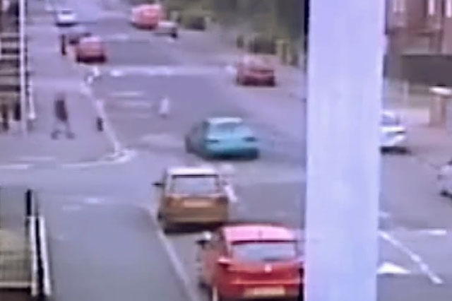 Shocking CCTV shows moment hit-and-run driver ploughs into boy, 11