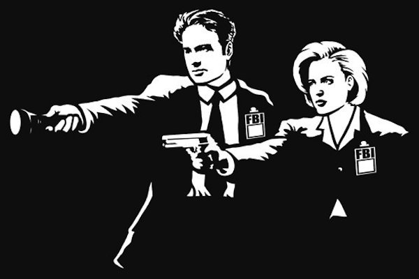pulp fiction mashups, mulder scully x-files