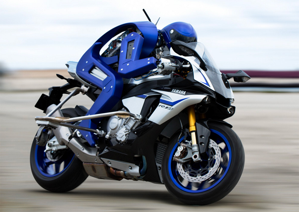 Yamaha's robot motorcycle rider could challenge real racers