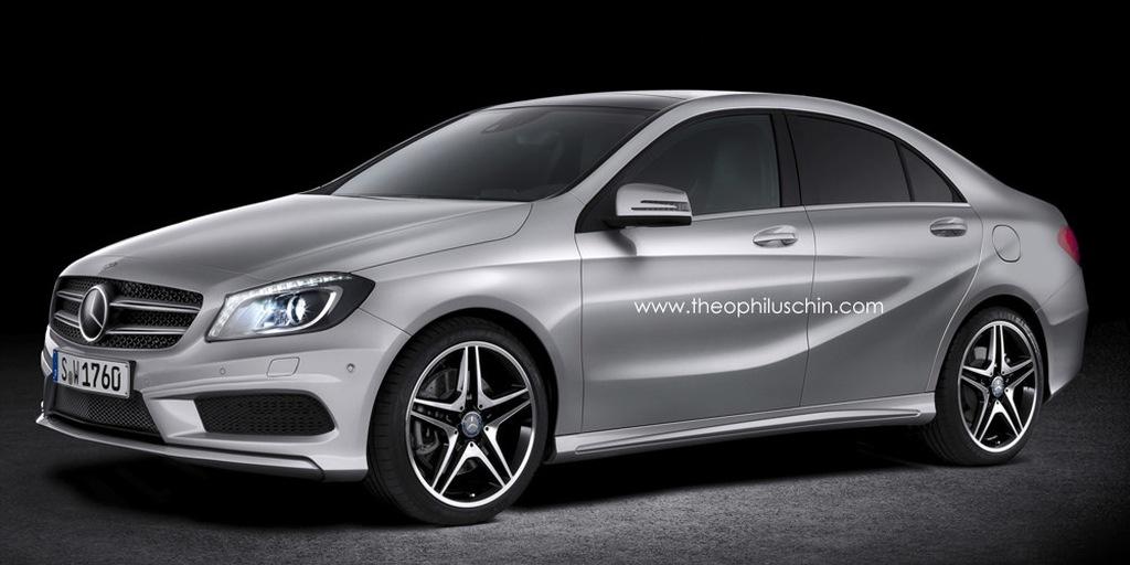 Mercedes-Benz, autos von morgen, Mercedes von morgen, A-Klasse, Neue A-Klasse, Neue A-Klasse Limousine, rendering, Gerücht, A-Klasse Limousine, Neue A-Klasse sedan,  a-Klasse sedan,