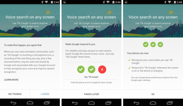 'OK Google' voice commands are now available inside apps and from the lockscreen