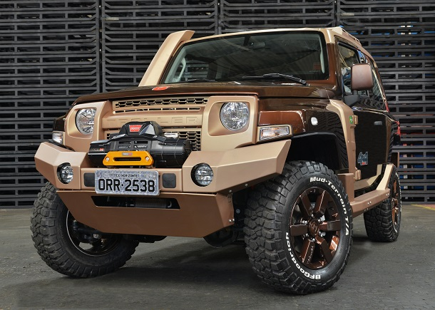 Troller Especial Off-road vehicle which will be on display at the Sao Paulo Auto Show.