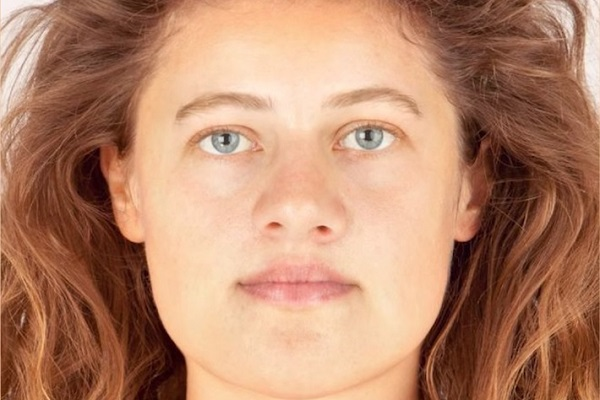 発掘された骨を元に再現した3700年前の女性の顔がコチラ!
