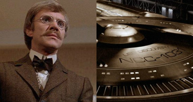 Malcolm McDowell in TIME AFTER TIME, the USS Discovery in STAR TREK: DISCOVERY